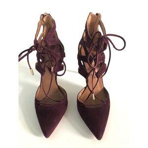 Aquazzura Belgravia Lace Up Heels